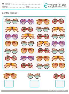 ejercicio atención con gafas