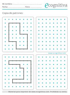 ejercicio de patrones para trabajar las praxias