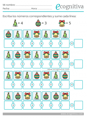 ejercicio de atencion de navidad