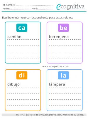 ejercicios de lenguaje