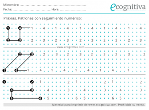 dibujo de patrones numericos