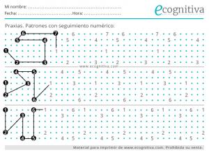 dibujo de patrones numericos para mayores