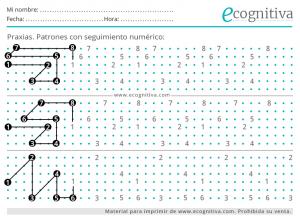 dibujo patrones numericos praxias
