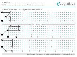 dibujo de patrones numericos para imprimir