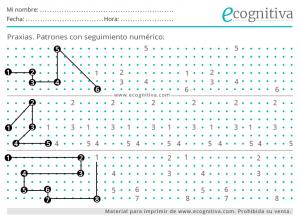 ejercicio cognitivo de patrones