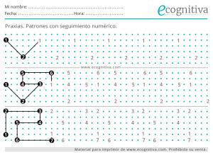 patrones con números praxias
