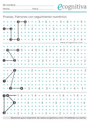 praxias patrones con seguimiento numerico