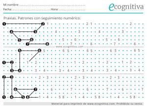 praxias y patrones numericos para mayores