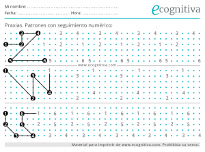 praxias patrones numericos para imprimir