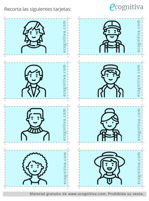 tarjetas de búsqueda visual para recortar: ejercicio 3 C