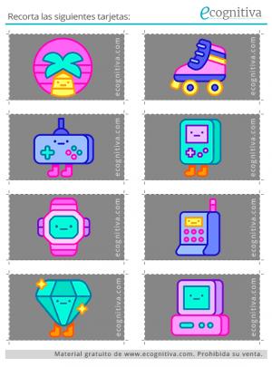 tarjetas para lámina de rastreo visual 2 B