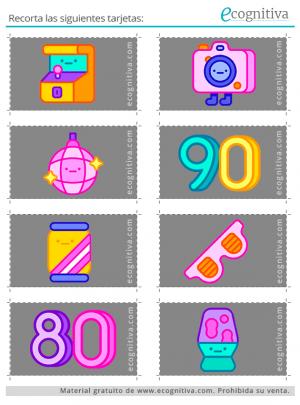 tarjetas para ejercicio de rastreo visual 2 D