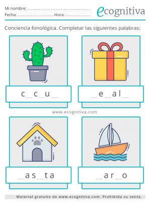 conciencia fonológica para imprimir