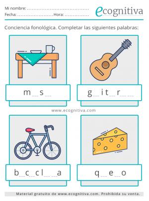 ejercicios fonológicos