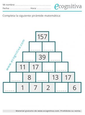 ejercicios de pirámides matemáticas