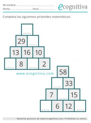 estimulación cognitiva pirámides