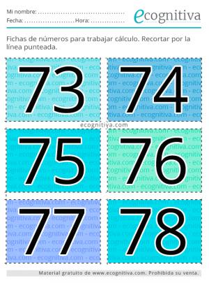flashcards de números
