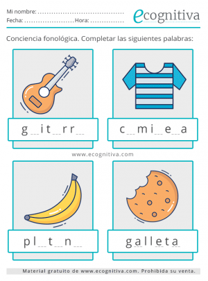 fonológica tarjetas