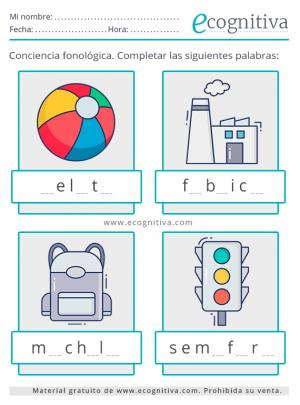 imprimir conciencia fonológica