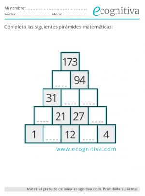 imprimir pirámide matemática