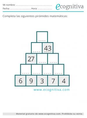 imprimir pirámide numérica