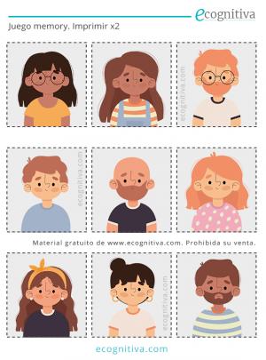 juego de memoria con caras