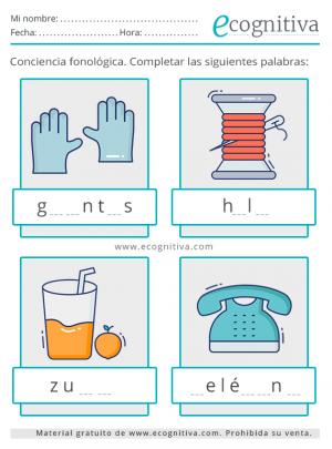 lenguaje y conciencia fonológica