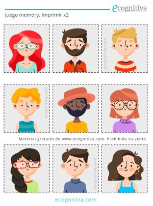 juego de memoria con caras para mayores