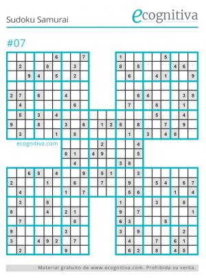 pasatiempo samurai sudoku