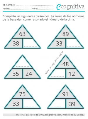 pirámide de cálculo
