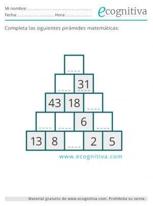 pirámides numéricas en pdf