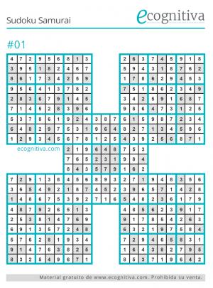 solución sudoku samurai