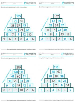 soluciones pirámides numéricas