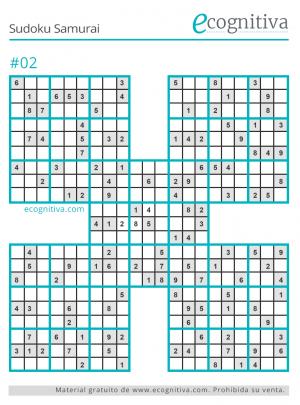 sudoku samurai imprimir gratis