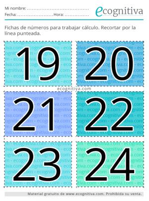 tarjetas para imprimir de números
