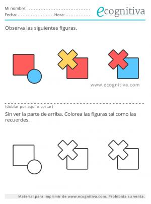 ejercicio con colores y formas para la memoria