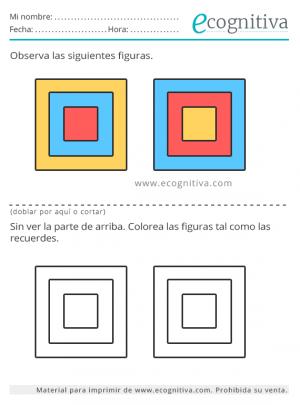 ejercicio de memoria con colores