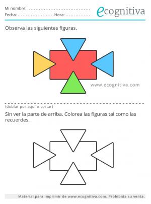 ejercicios de memoria con figuras