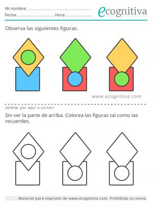 ejercitar la memoria ejercicio de colores