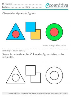 estimulacion cognitiva con colores y formas
