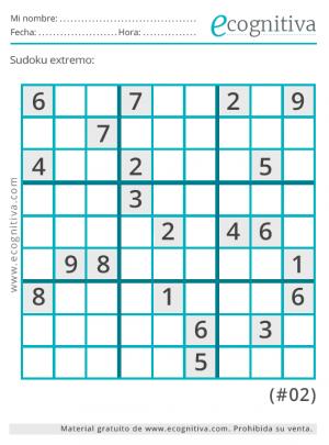 imprimir sudoku extremo