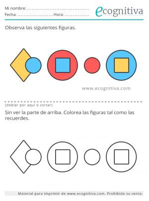 memoria con colores y formas
