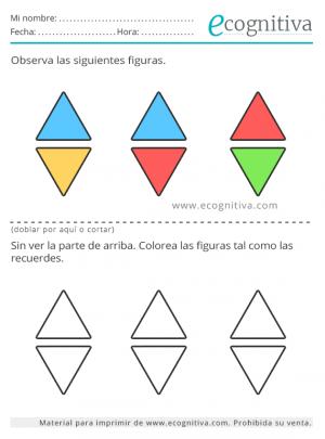 memorizar formas y colores