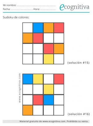 sudoku 4x4 de color