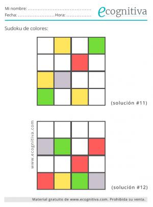 sudoku de color fácil