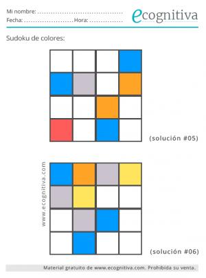 sudoku colores