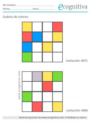 sudokus para colorear