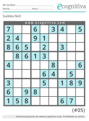 imprimir sudoku facil