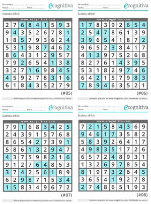 sudoku dificiles con soluciones