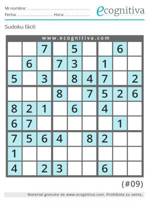 sudoku fácil para imprimir